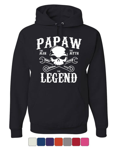 Papaw The Man The Myth The Legend Hoodie Grandpa Father's Day Sweatshirt