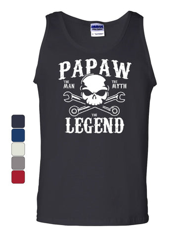 Papaw The Man The Myth The Legend Tank Top Grandpa Father's Day Sleeveless