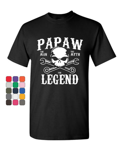 Papaw The Man The Myth The Legend T-Shirt Grandpa Father's Day Mens Tee Shirt