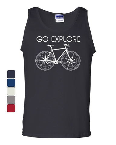 Go Explore Cycling Tank Top Outdoors Adventure Tourism Bike Life Sleeveless