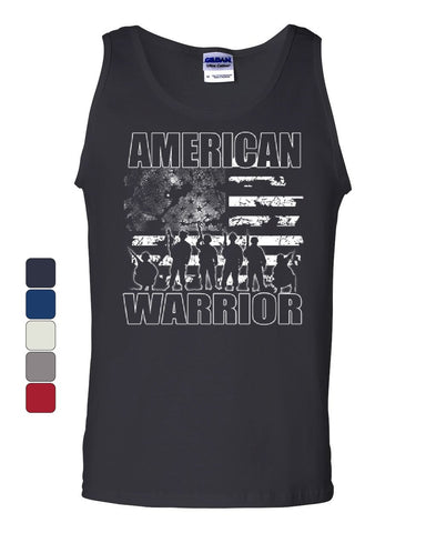 American Warrior Tank Top Support Our Troops American Flag Sleeveless