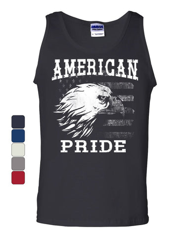 American Pride Tank Top 4th of July Bald Eagle American Flag Sleeveless