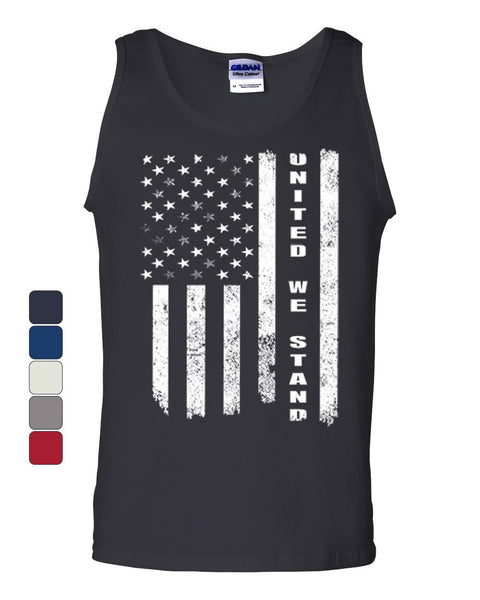 United We Stand Tank Top 4th of July Patriotic USA American Flag Sleeveless