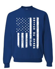 United We Stand Sweatshirt 4th of July Patriotic USA American Flag Sweater