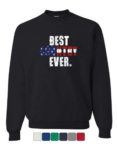 Best Country Ever Sweatshirt 4th of July American Flag Patriotic Sweater