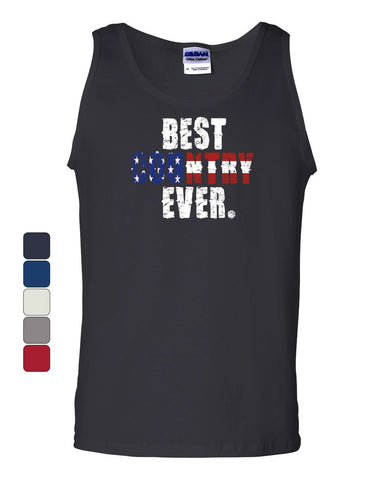 Best Country Ever Tank Top 4th of July American Flag Patriotic Sleeveless