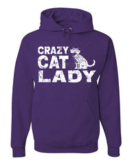 Crazy Cat Lady Hoodie Funny Pet College Humor Hipster Cat Kitten Sweatshirt - Tee Hunt - 7