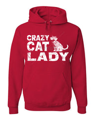 Crazy Cat Lady Hoodie Funny Pet College Humor Hipster Cat Kitten Sweatshirt - Tee Hunt - 3