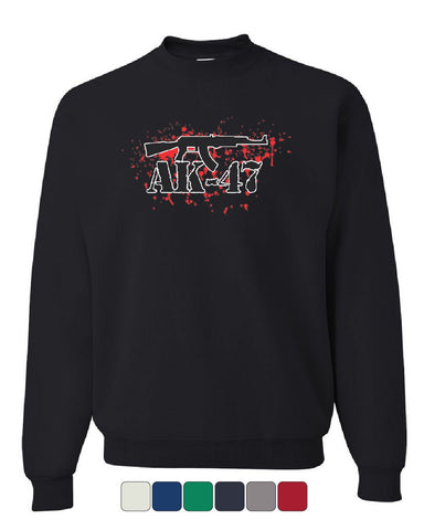 AK-47 Rifle Sweatshirt 2nd Amendment Supporter Defend 2A Gun Rights Sweater
