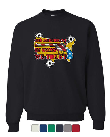 2nd Amendment In Guns We Trust Sweatshirt USA Stars and Stripes 2A Sweater