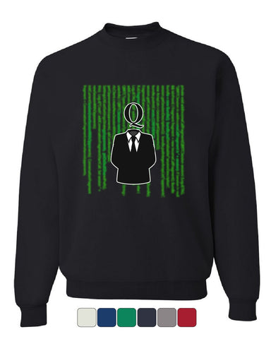 Agent Q Sweatshirt Hacker Green Code The Great Awakening Anonymous Sweater