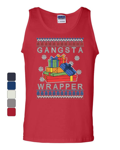 Gangsta Wrapper Ugly Sweater Tank Top Merry Jolly Christmas Xmas Sleeveless