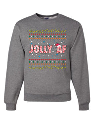 Jolly AF Sweatshirt Funny Christmas Eve Holiday Spirit Xmas Santa Sweater