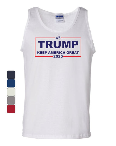 45 Trump Keep America Great 2020 Tank Top MAGA American President Sleeveless