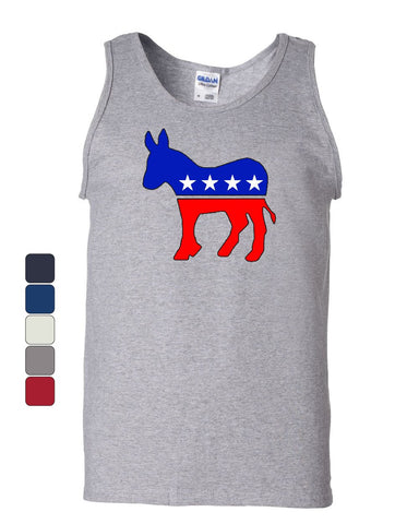 Democratic Party Donkey Logo Tank Top Political Liberal Left Wing Sleeveless