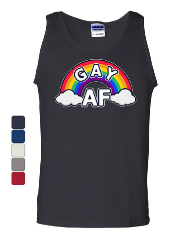 Gay AF Tank Top Rainbow Flag LGBTQ Equal Rights Pride Love Wins Sleeveless
