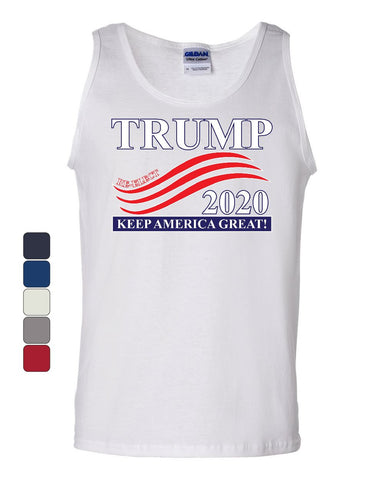 Re-Elect Trump 2020 Tank Top Keep America Great MAGA Two Terms Sleeveless