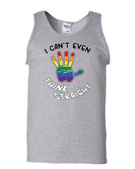 I Can't Even Think Straight Tank Top Gay LGBT Pride Rainbow Equal Sleeveless