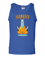 Llamaste Tank Top Funny Yoga Namaste Llama Peace Pilates Lotus Om Sleeveless