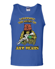 I Support the Right to Arm Bears 2nd Amendment Tank Top Militia Sleeveless