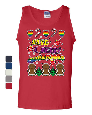 Have a Merry Queermas Tank Top Ugly Sweater Christmas LGBT Xmas Sleeveless