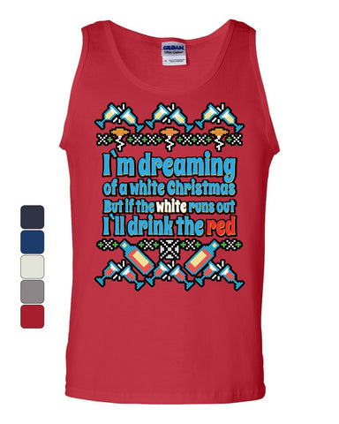I'm Dreaming of a White Christmas Ugly Tank Top Holiday Spirit Sleeveless