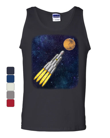 From Elon With Love Tank Top Space Travel Terraform Colonize Mars Sleeveless