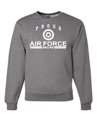 Proud Air Force Mom Crewneck Sweatshirt US Air Force Support Our Troops USAF Sweatshirt - Tee Hunt - 5