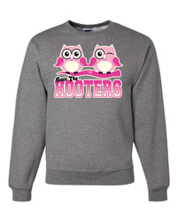 Save The Hooters Crewneck Sweatshirt Breast Cancer Awareness Hope Cure Pink Ribbon Sweatshirt - Tee Hunt - 5