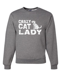 Crazy Cat Lady Crewneck Sweatshirt Funny Pet College Humor Hipster Cat Kitten Sweatshirt - Tee Hunt - 5