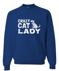 Crazy Cat Lady Crewneck Sweatshirt Funny Pet College Humor Hipster Cat Kitten Sweatshirt - Tee Hunt - 4