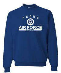 Proud Air Force Mom Crewneck Sweatshirt US Air Force Support Our Troops USAF Sweatshirt - Tee Hunt - 4