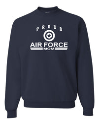Proud Air Force Mom Crewneck Sweatshirt US Air Force Support Our Troops USAF Sweatshirt - Tee Hunt - 6