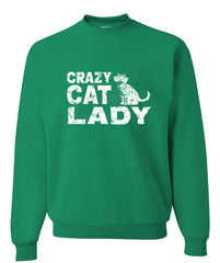 Crazy Cat Lady Crewneck Sweatshirt Funny Pet College Humor Hipster Cat Kitten Sweatshirt - Tee Hunt - 7
