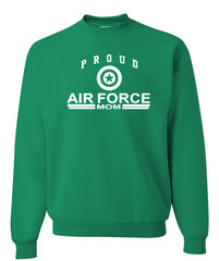 Proud Air Force Mom Crewneck Sweatshirt US Air Force Support Our Troops USAF Sweatshirt - Tee Hunt - 7