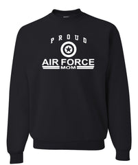 Proud Air Force Mom Crewneck Sweatshirt US Air Force Support Our Troops USAF Sweatshirt - Tee Hunt - 2
