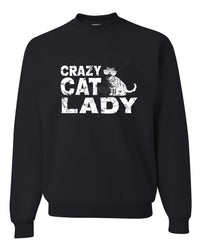 Crazy Cat Lady Crewneck Sweatshirt Funny Pet College Humor Hipster Cat Kitten Sweatshirt - Tee Hunt - 2