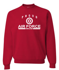 Proud Air Force Mom Crewneck Sweatshirt US Air Force Support Our Troops USAF Sweatshirt - Tee Hunt - 3