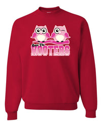 Save The Hooters Crewneck Sweatshirt Breast Cancer Awareness Hope Cure Pink Ribbon Sweatshirt - Tee Hunt - 3