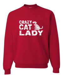 Crazy Cat Lady Crewneck Sweatshirt Funny Pet College Humor Hipster Cat Kitten Sweatshirt - Tee Hunt - 3