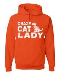 Crazy Cat Lady Hoodie Funny Pet College Humor Hipster Cat Kitten Sweatshirt - Tee Hunt - 4