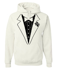 Funny Tuxedo Hoodie Groom Wedding Bachelor Party Drinking Sweatshirt - Tee Hunt - 2