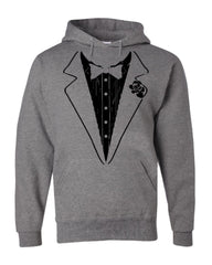 Funny Tuxedo Hoodie Groom Wedding Bachelor Party Drinking Sweatshirt - Tee Hunt - 6