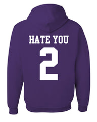 Hate U 2 Funny Hoodie Offensive Adult Humor College Party Drinking Sweatshirt - Tee Hunt - 7