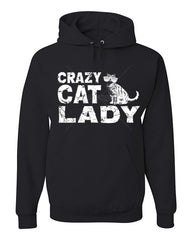 Crazy Cat Lady Hoodie Funny Pet College Humor Hipster Cat Kitten Sweatshirt - Tee Hunt - 5