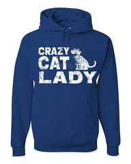Crazy Cat Lady Hoodie Funny Pet College Humor Hipster Cat Kitten Sweatshirt - Tee Hunt - 2