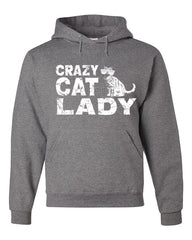 Crazy Cat Lady Hoodie Funny Pet College Humor Hipster Cat Kitten Sweatshirt - Tee Hunt - 6