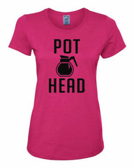 Pot Head Women's T-Shirt Funny Coffee Tee Shirt - Tee Hunt - 4