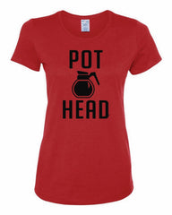 Pot Head Women's T-Shirt Funny Coffee Tee Shirt - Tee Hunt - 2