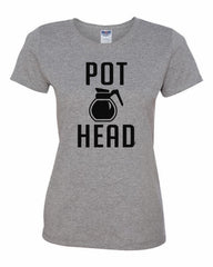 Pot Head Women's T-Shirt Funny Coffee Tee Shirt - Tee Hunt - 5